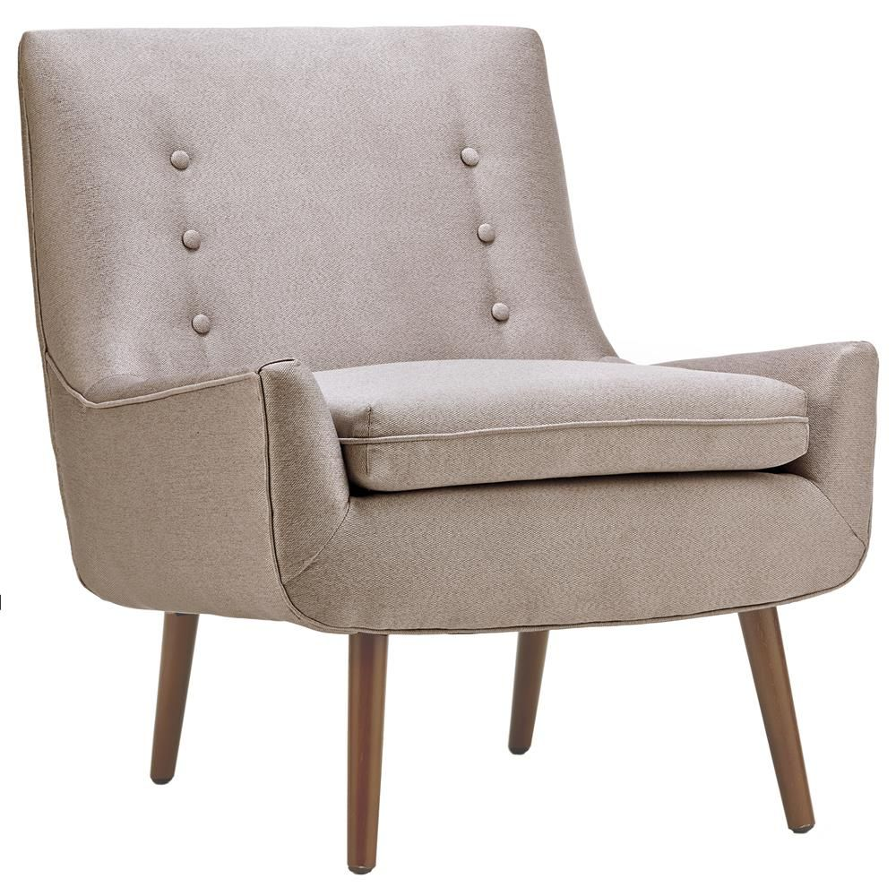 Chenille canvas and wood retro lounge chair/LOUNGE CHAIRS