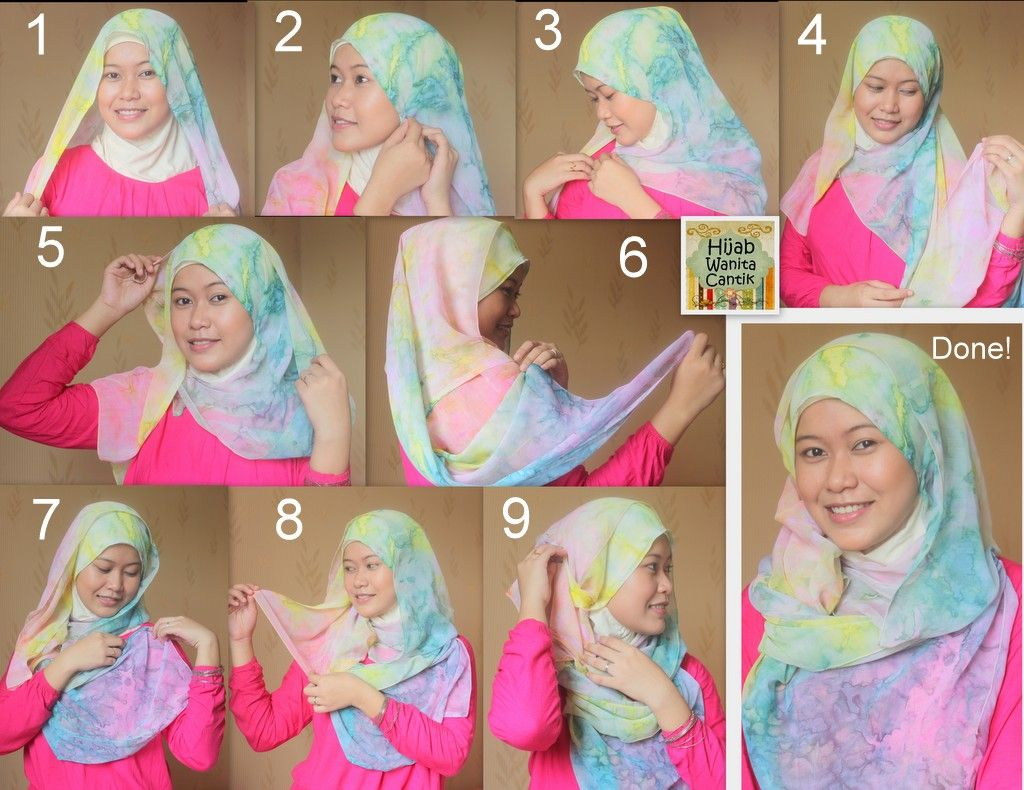 9 Simple Tutorial Hijab Paris Zaskia Adya Untuk Santai Tutorial