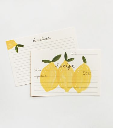 Lemon Recipe Cards