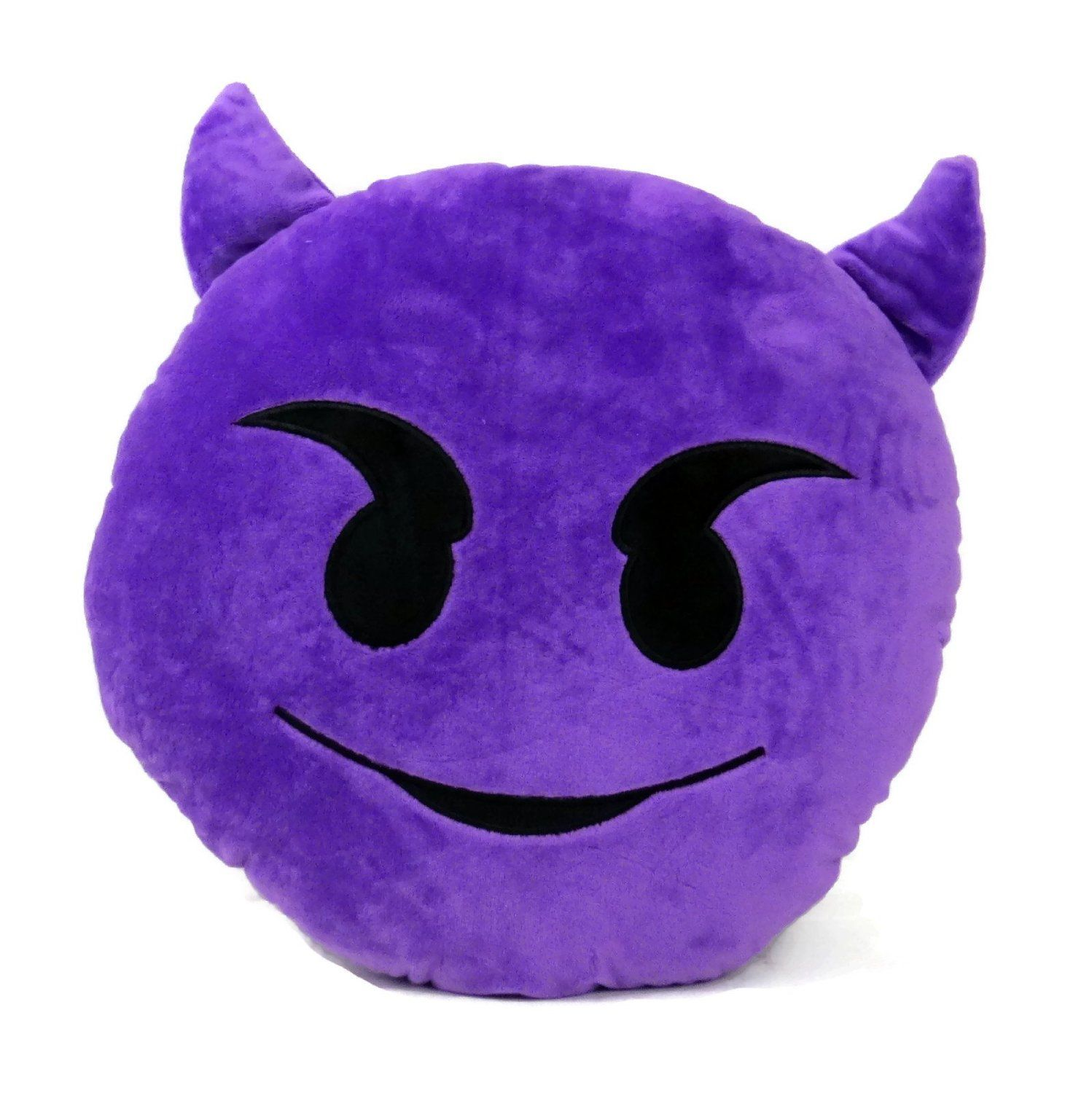 Amazon decorative soft plush stuffed purple demon emoji smiley