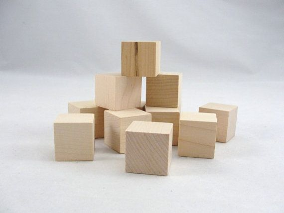 One Inch 1 Wooden Block Unfinished Wood Blocks Wooden Wooden Cubes Alphabet Blocks Wooden Blocks