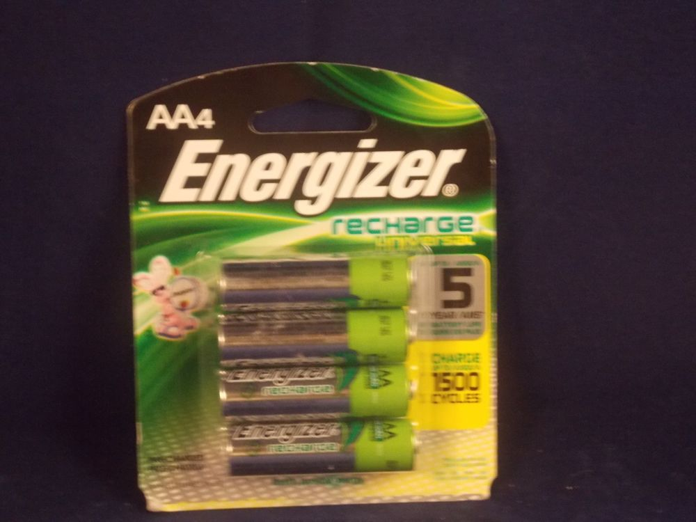 Energizer Aa 4 Pack Nimh Pre Charged Rechargeable Universal Batteries 1400 Mah Energizer Energizer Nimh Recharge