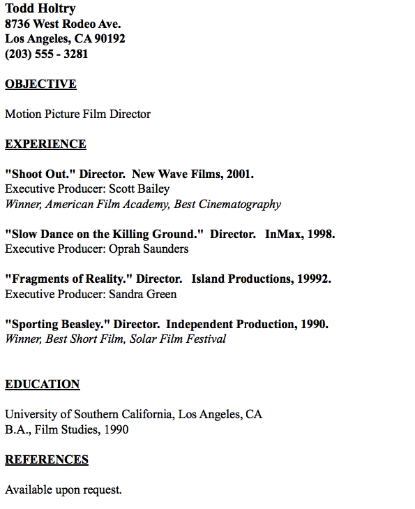 example of film editor resume http resumesdesign com example