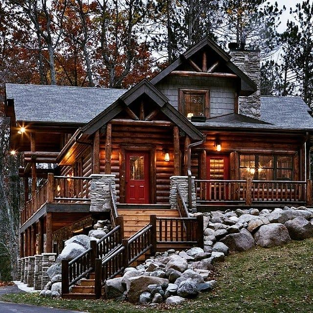 Log Homes Photo Galley #logcabinhomes
