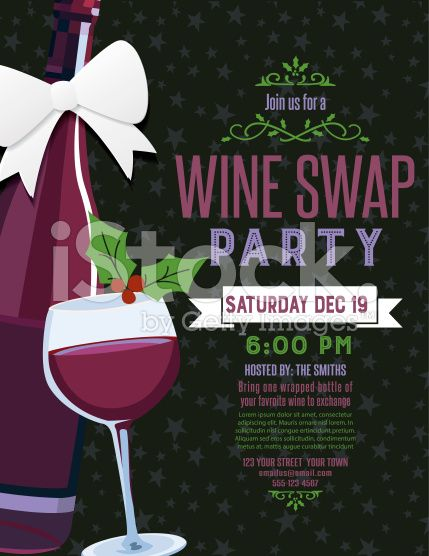 Wine Swap Party Invitation Template Perfect For Office Parties Or - Wine and cheese party invitation template free