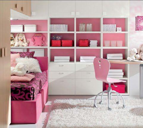 Dormitorio fucsia rosado para ni as y jovencitas for Tiendas muebles minimalistas