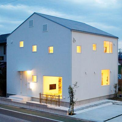 窓の家 無印良品の家 住宅のエクステリアデザイン 家 住宅 外観