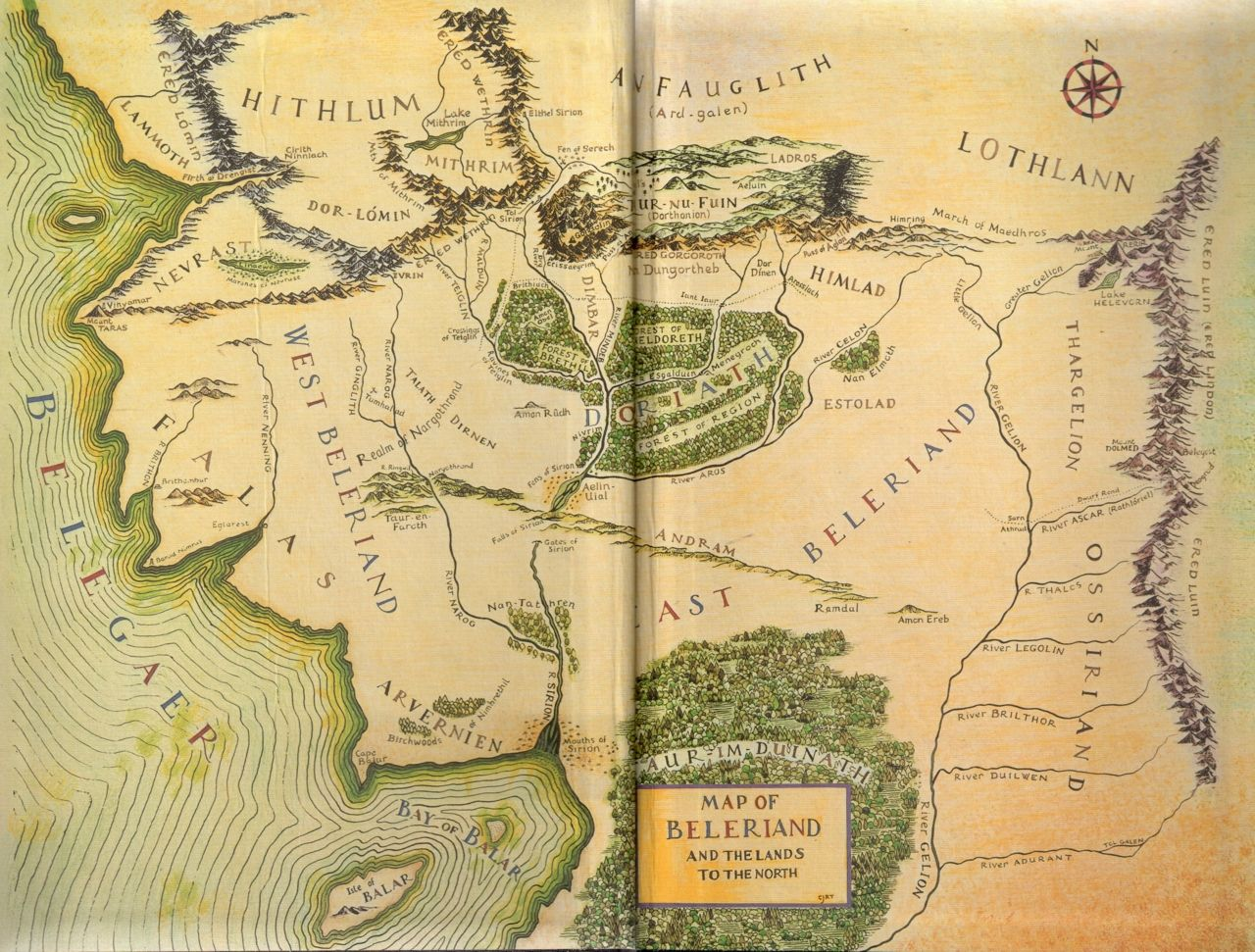 Beleriand from The Silmarillion by J.R.R. Tolkien ... on his dark materials map, doctor who map, minecraft middle earth map, thors map, fellowship of the ring map, watership down map, angband map, supernatural map, j. r. r. tolkien, marvel map, legend of zelda map, the hobbit, lord of the rings map, frodo baggins, james bond map, to kill a mockingbird map, detailed middle earth map, jak and daxter map, firefly map, the lord of the rings, tolkein map, batman map, legend of dragoon map, the hobbit map,