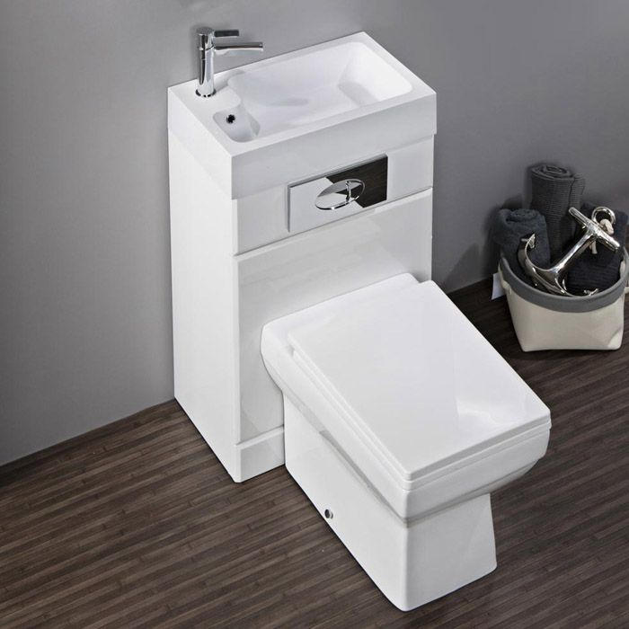 Kyoto Combined Two-In-One Wash Basin & Toilet (500mm wide x 300mm ...