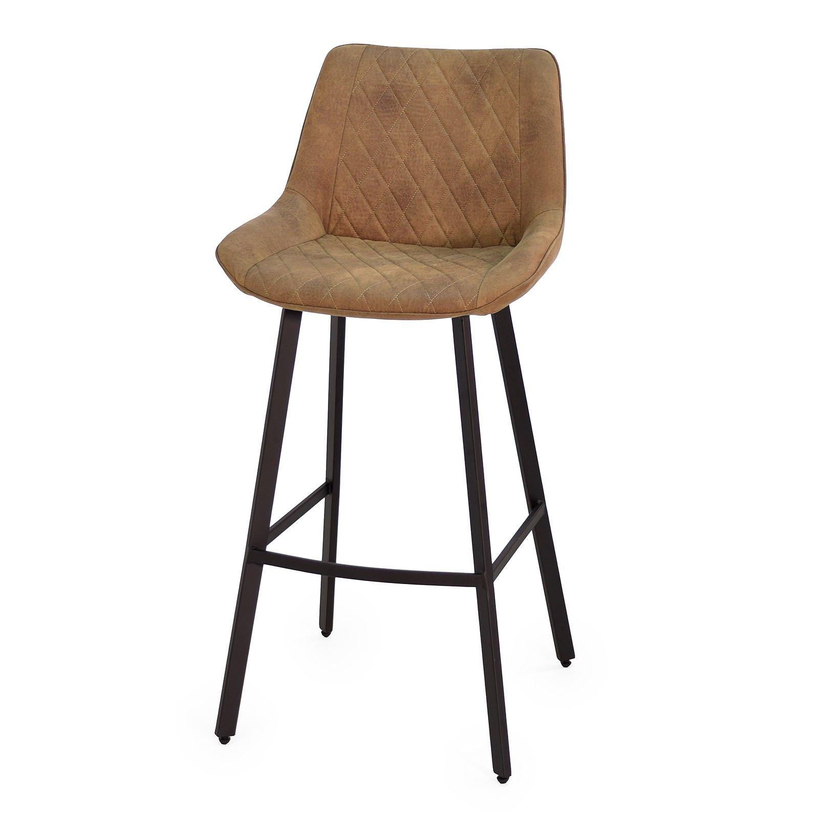 Barhocker Lederoptik Braun Metall Schwarz 2er Set Daru Ii Decor Home Decor Furniture