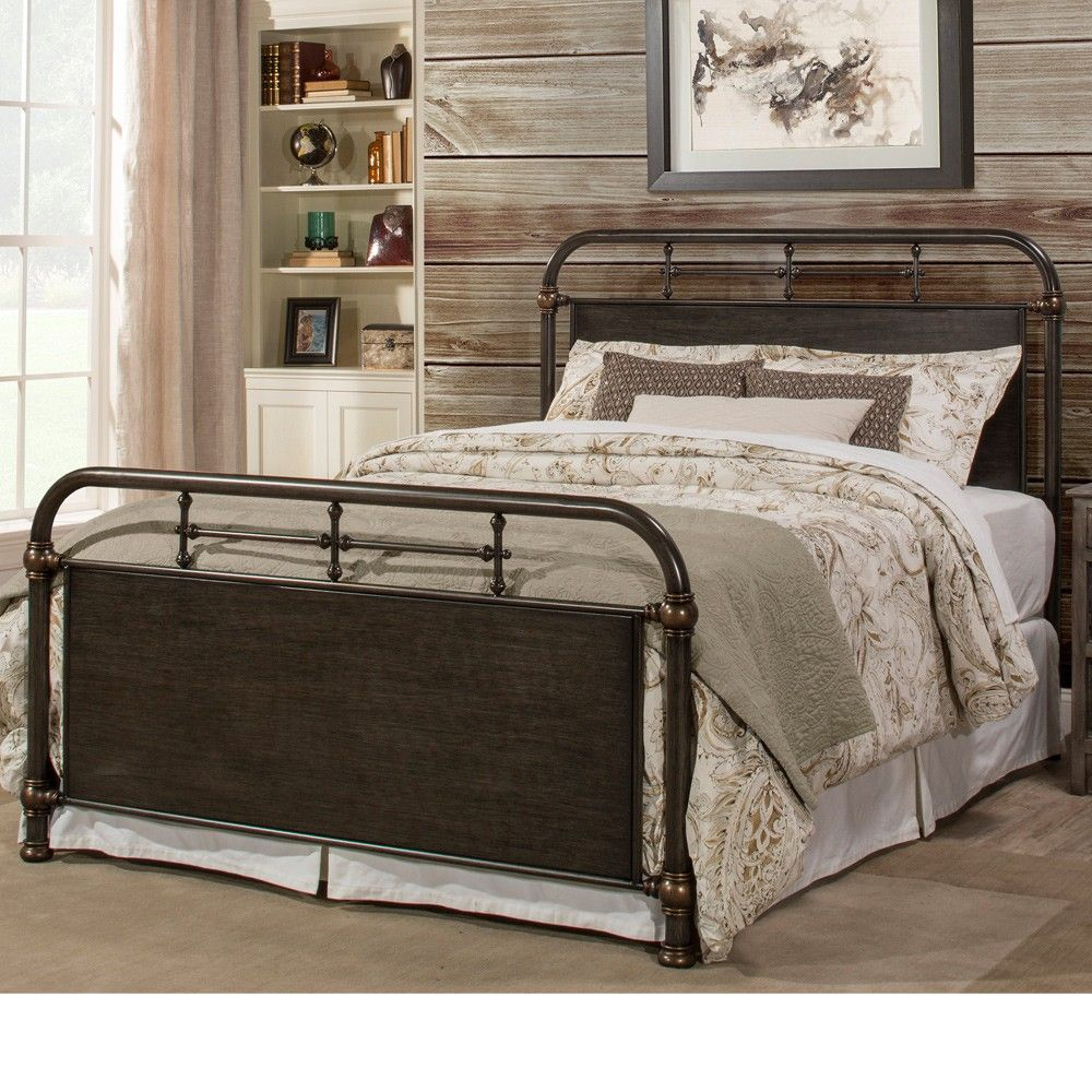 Best Logan Iron Bed In Rubbed Black By Hillsdale Furniture 400 x 300