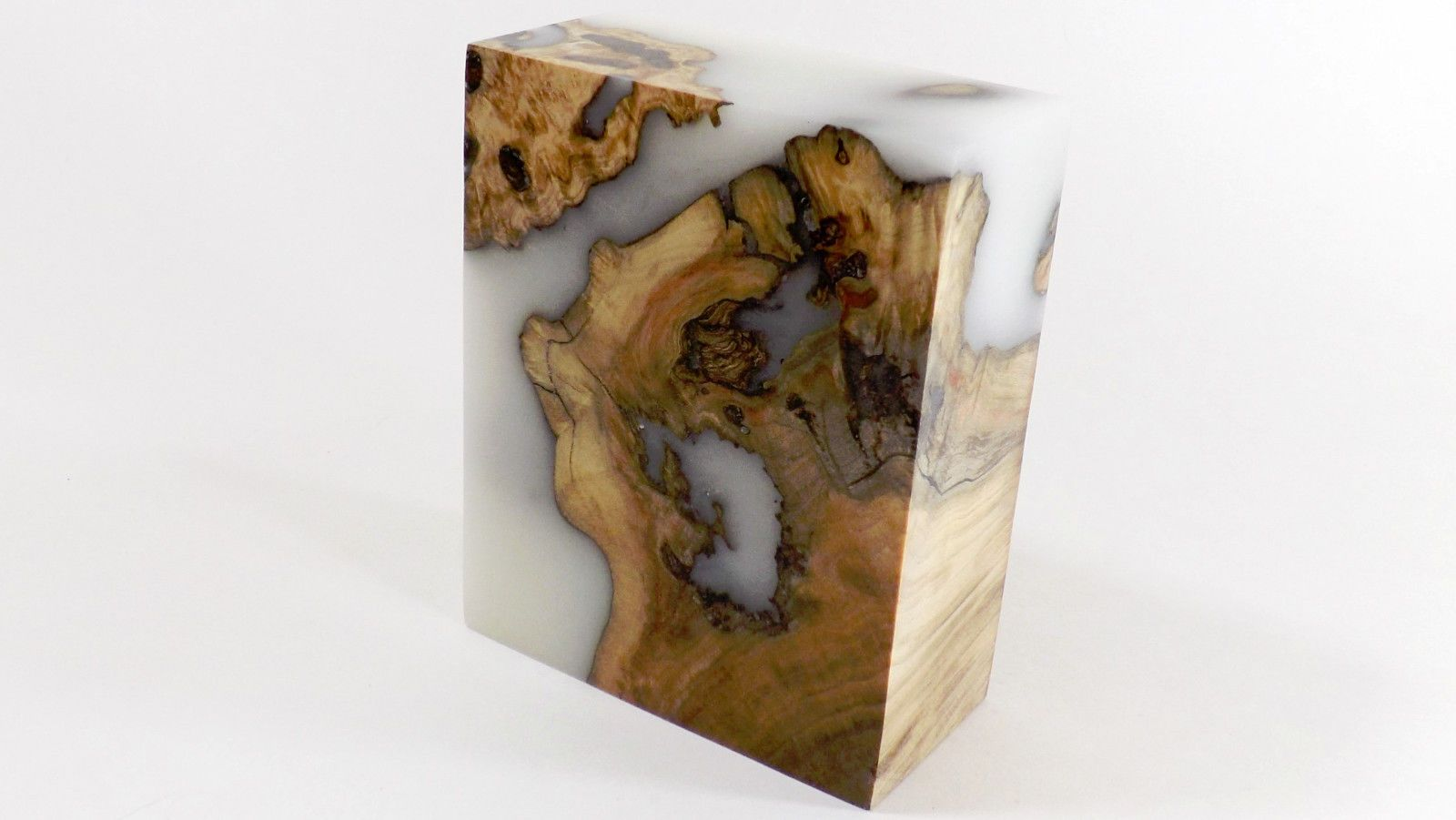 Details about Stabilized Maple Burl Wood & Acrylic Hybrid