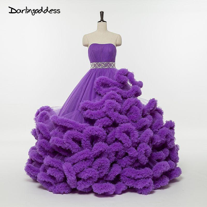 Luxury Plus Size Wedding Dresses Cloud Princess Ball Gown Wedding ...