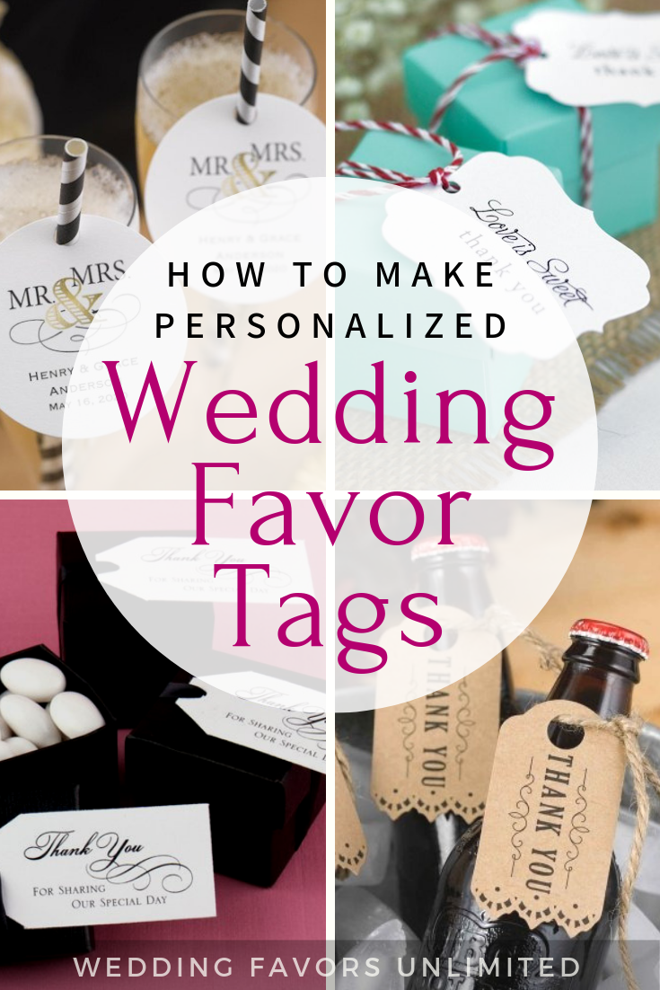 How to Make Personalized Wedding Favor Tags by Wedding Favors Unlimited #favorsweddingpersonalized #personalizedweddingfavors