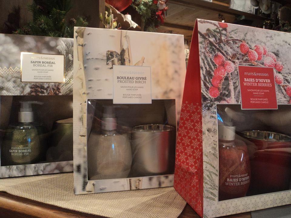 Ensemble cadeau fruit et passion chandelle savon pour les mains odeur baies d 39 hiver sapin - Odeur de sapin dans la maison ...