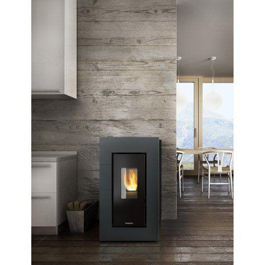 poele a granules freepoint kami anthracite 5 5 kw home. Black Bedroom Furniture Sets. Home Design Ideas