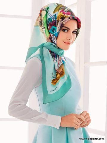 Armine Chartreuse Abstract Petals Head Scarf Hijab Designs Hijab Turkish Hijab Fashion