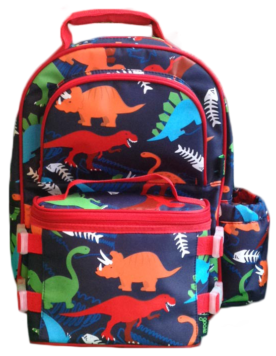 9bc8fc1d0320 Backpack Lunchbox combo dino for boys