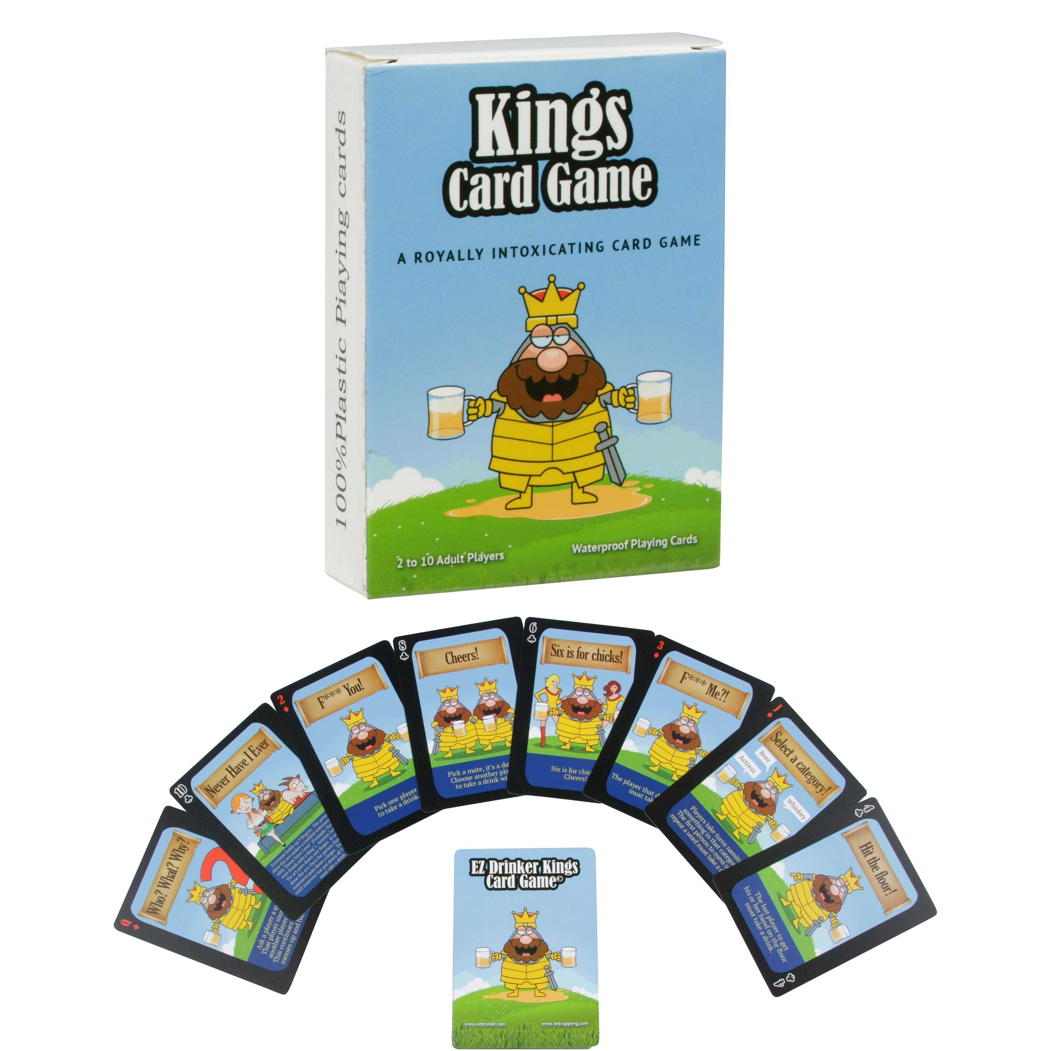 Kings Drinking Card Game 52 Waterproof Party Cards With