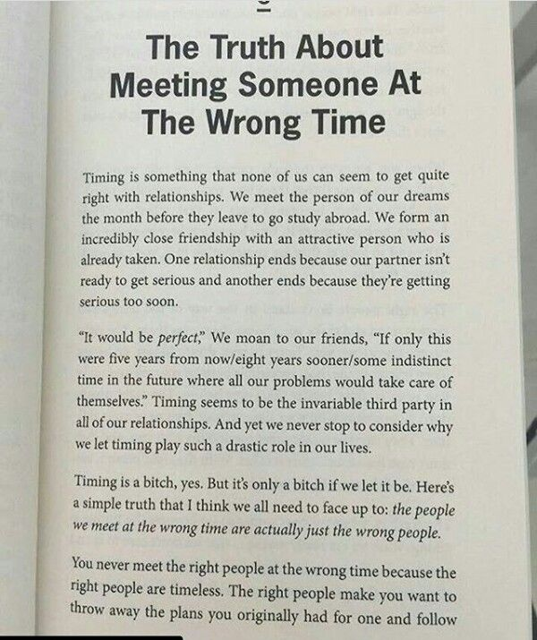 The Truth About Meeting Someone At The Wrong Time Life Reflections