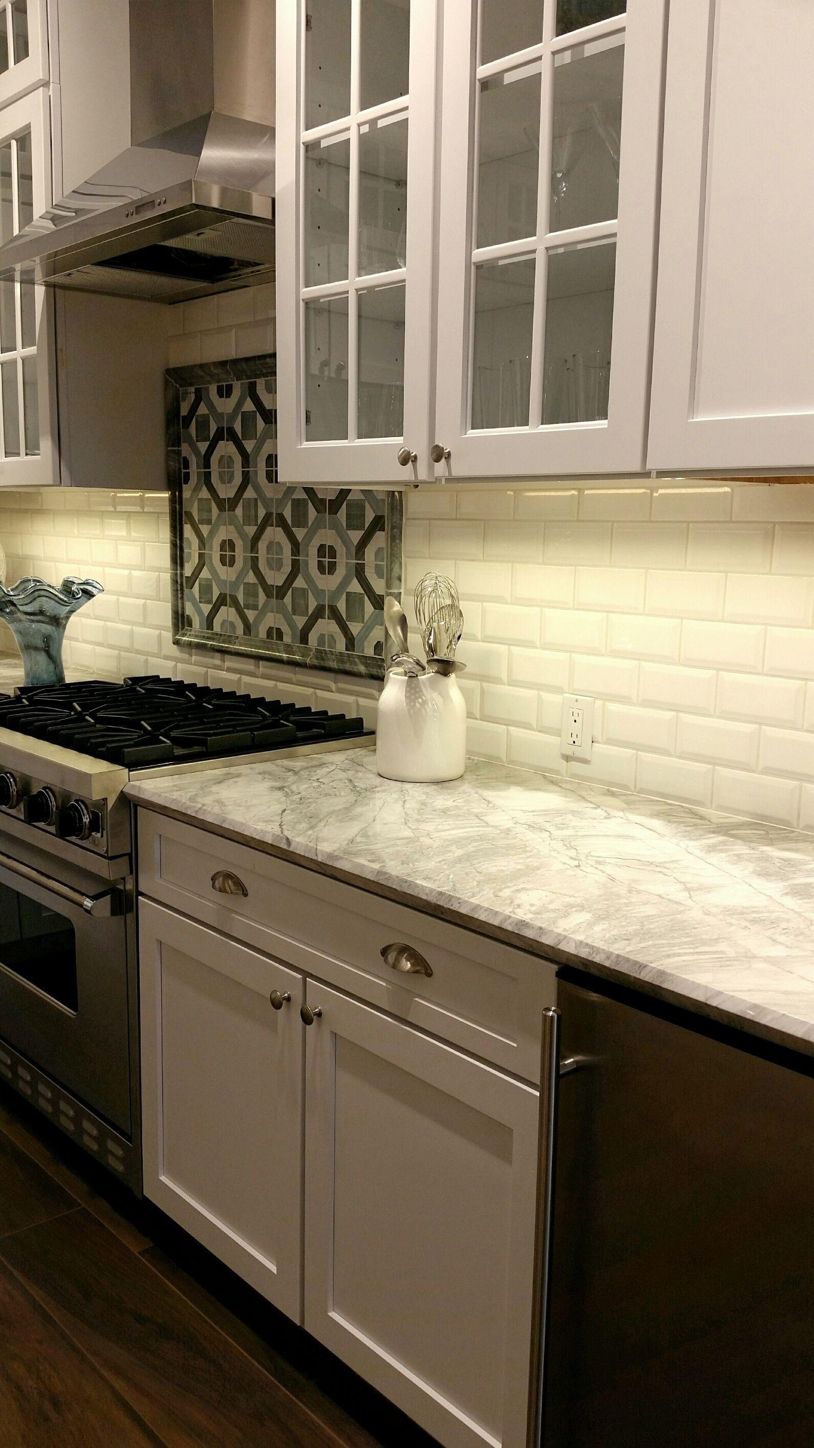 Beveled subway tile for your kitchen