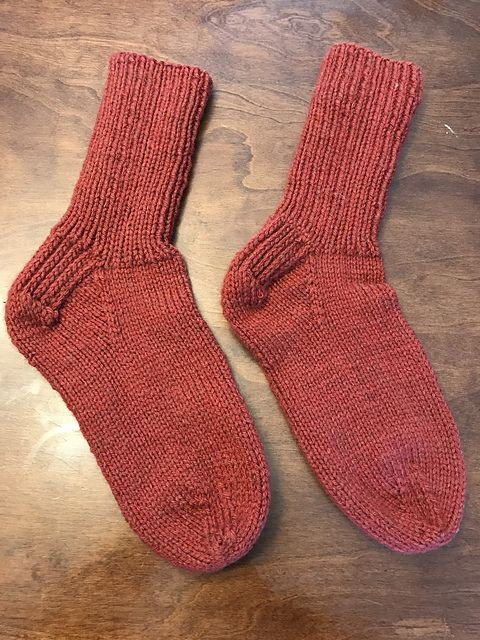 Ravelry Project Gallery For A Simple Knitted Sock Pattern For