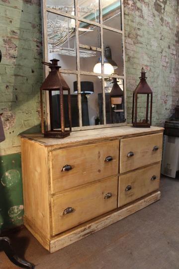 Ancien meuble de mercerie 4 tiroirs ma petite boutique mobilier de salon meuble de metier - Restauration meuble industriel ...