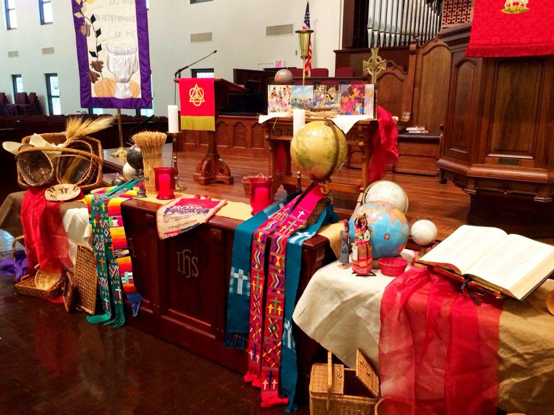 World Communion Sunday Church Altar Decorations Altar