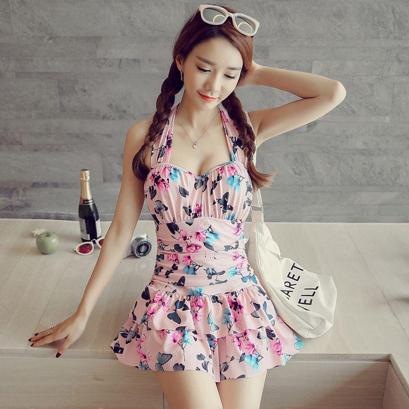 Swimming Suit For Women Two Piece Swimsuit Plus Size Swimwear Womens Cheap Bikinis Korean Skirt Over Underwire Push Up