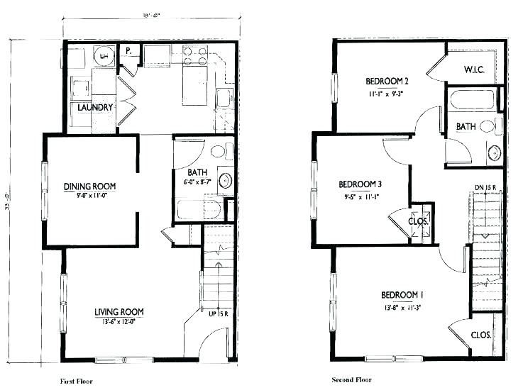 Beautiful 2 Storey House Floor Plan Autocad In 2020