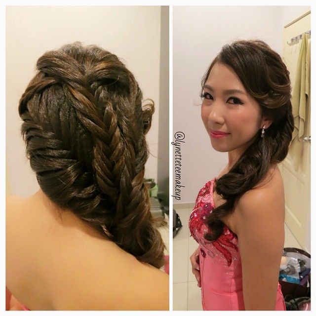 Excellent Wedding Dinner Braided Hairstyles And Hairdos On Pinterest Short Hairstyles Gunalazisus