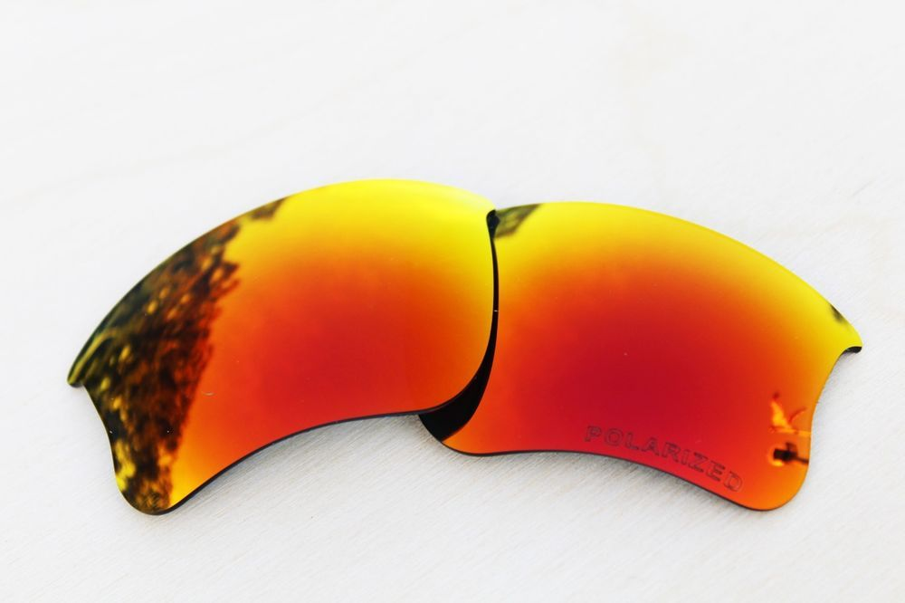 d23d2f6eac Polarized Replacement Lenses for Oakley Flak Jacket XLJ Sunglasses Fire  Iridium  fashion  clothing