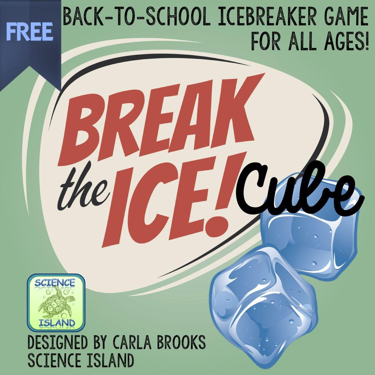 Break The Ice Cube Game Back To School Icebreaker