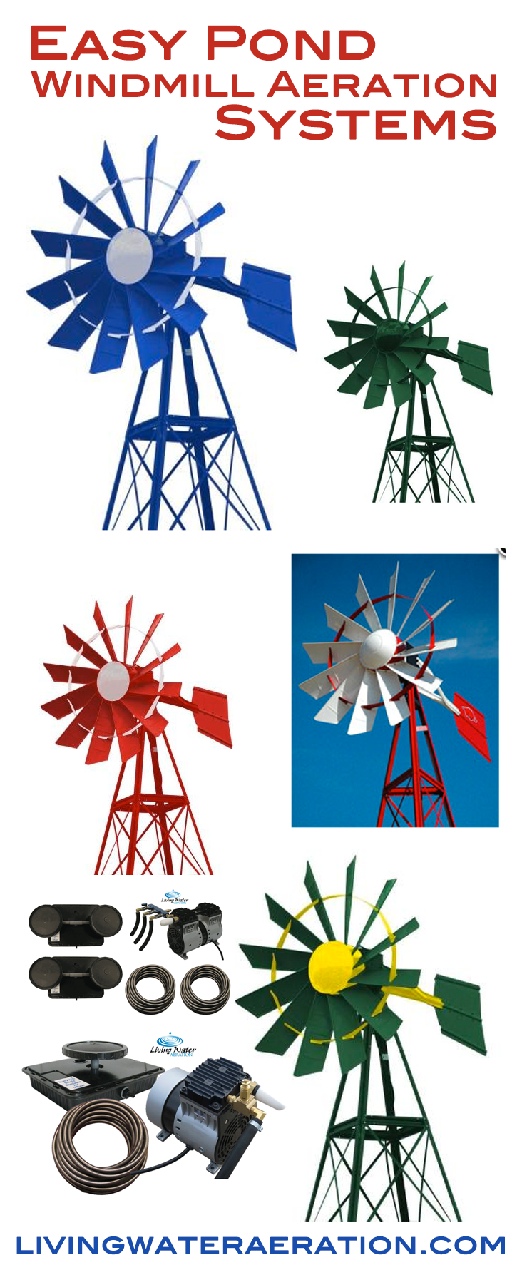 With these Outdoor Water Solutions Windmills let Nature help aerate ...