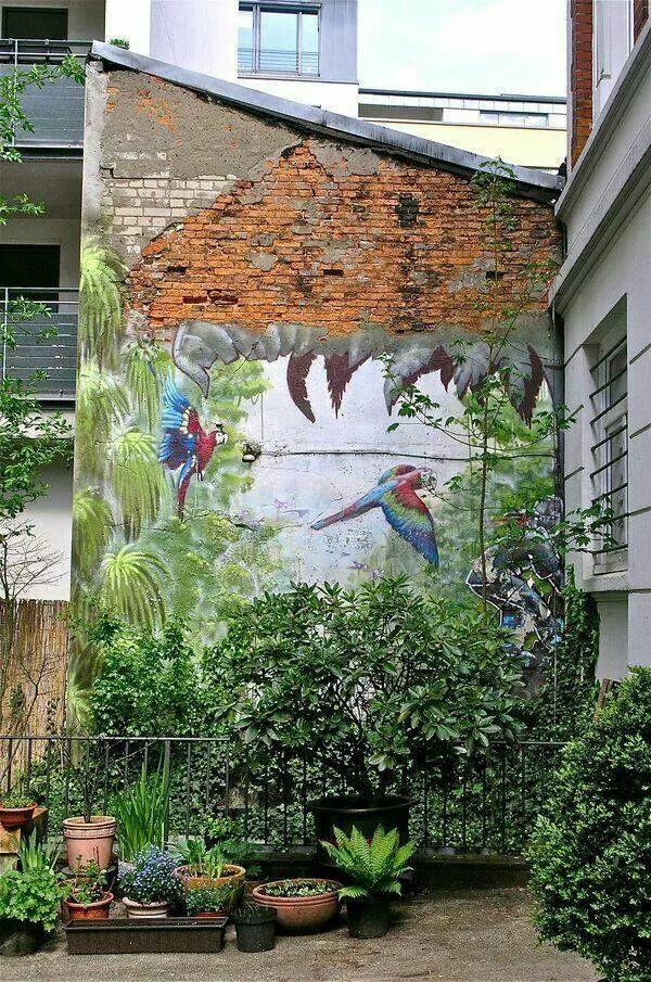Paint a forest in your garden. | Fine Arts | Pinterest | Outdoor art ...