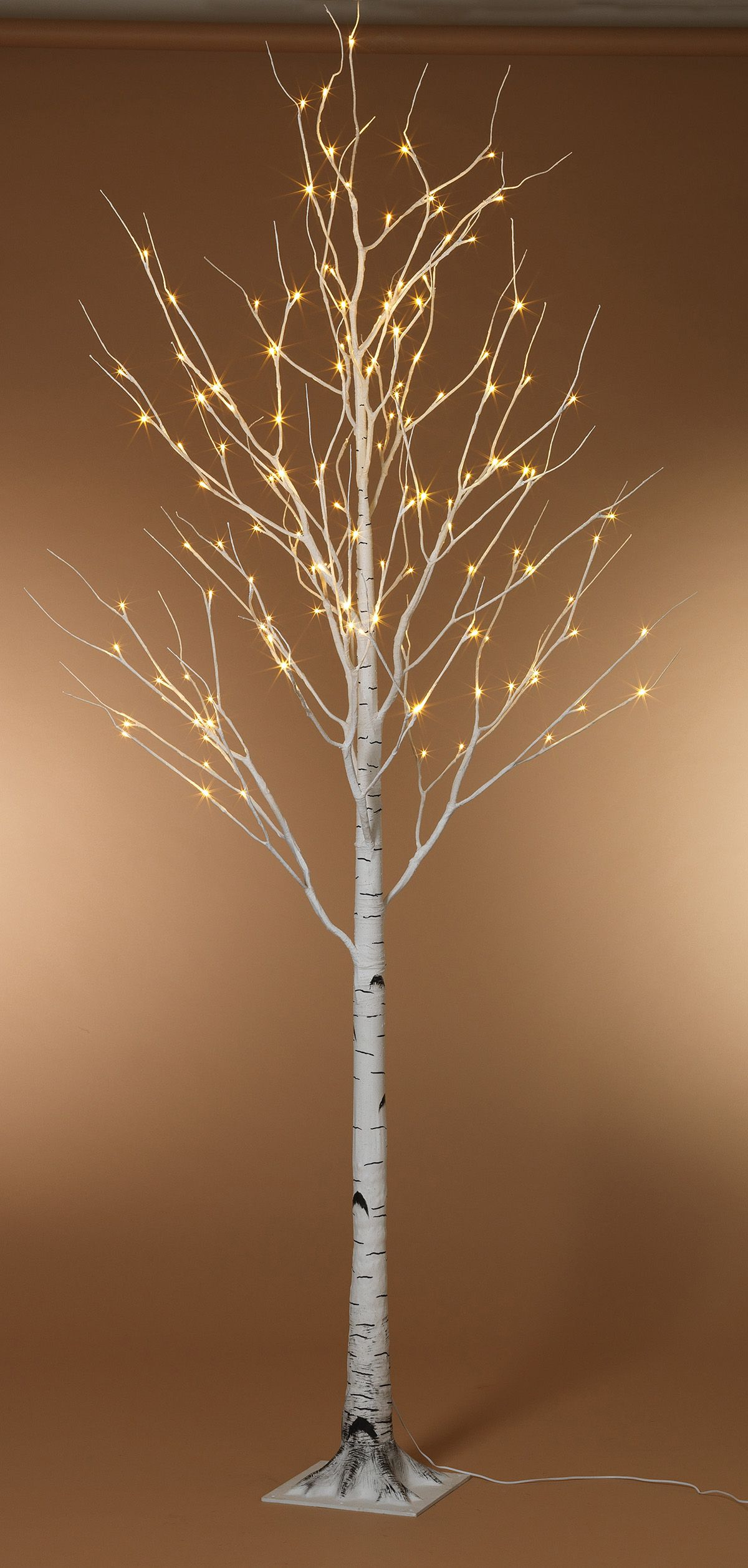8 Foot Led Lighted Birch Tree Warm White Front Porches