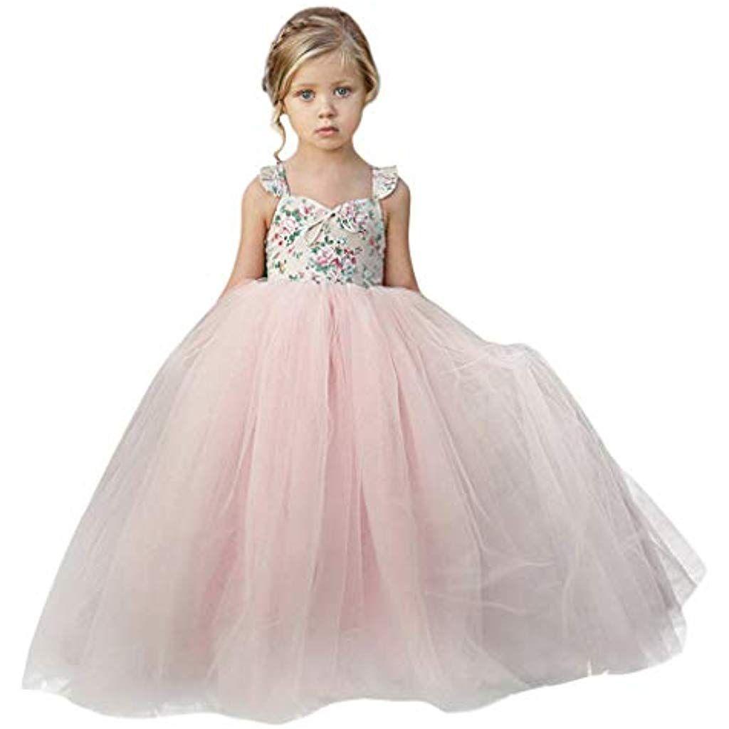 Baby Tüllkleid Hochzeit Taufe Geburstag Prinzessinkleid Blumenmädchen