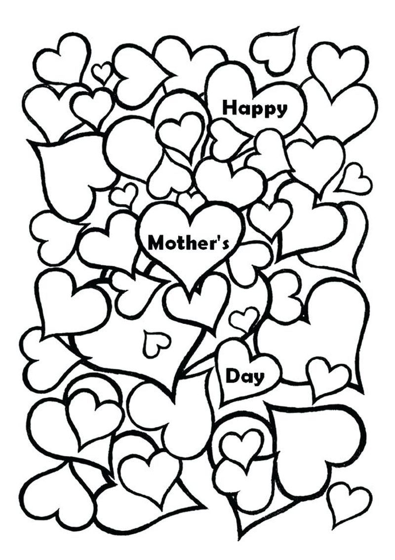 Printable Mother's Day Coloring Pages di 2020 Sketsa