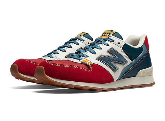 new balance navy & red 996 trainers