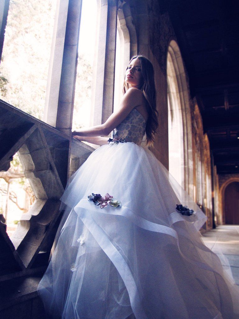 Fleur wedding dress  Something magical and something blue awaits in the