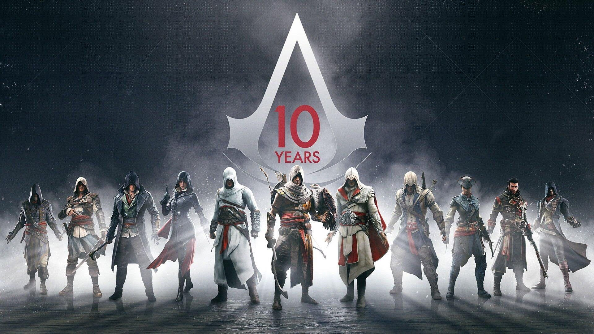 Assassin S Creed Poster Assassin S Creed Assassin S Creed 10 Years
