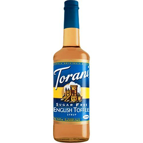 Torani Sugar Free English Toffee Flavor Syrup, 750ml