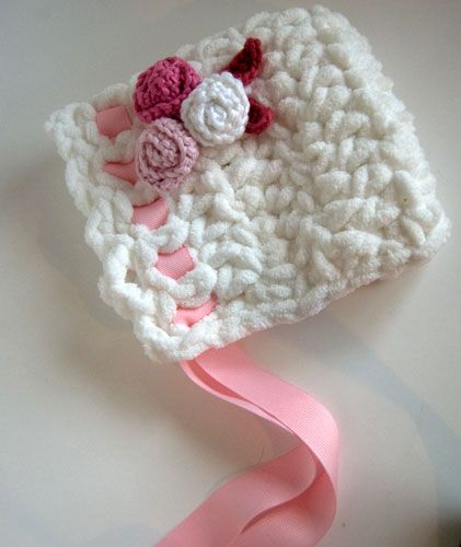 Free Pattern: Toot Sweet Newborn Baby Bonnet | Pinterest | Babymütze ...