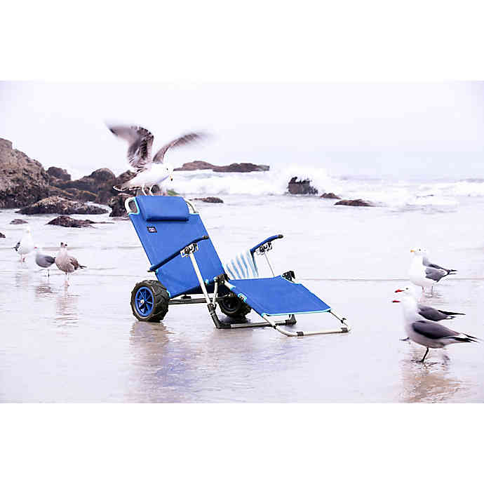 Mac Sports Beach Day Multi Purpose Lounger And Pull Cart In Blue Bed Bath Beyond Beach Day Lounger Blue Bedding