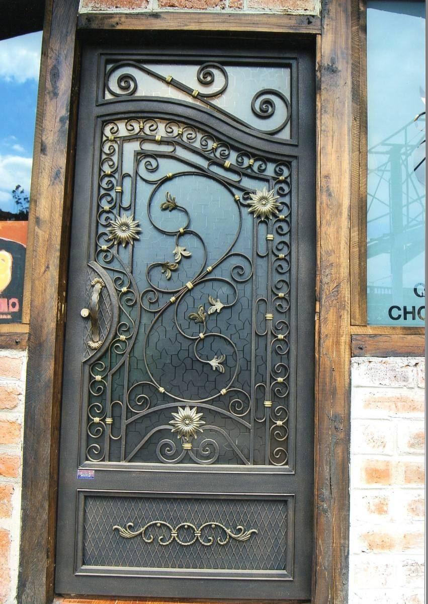 Puertas en hierro forjado buscar con google puertas y - Puertas de metal ...