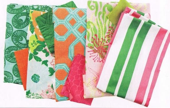 bold, graphic fabric like the Lilly Pulitzer prints for
