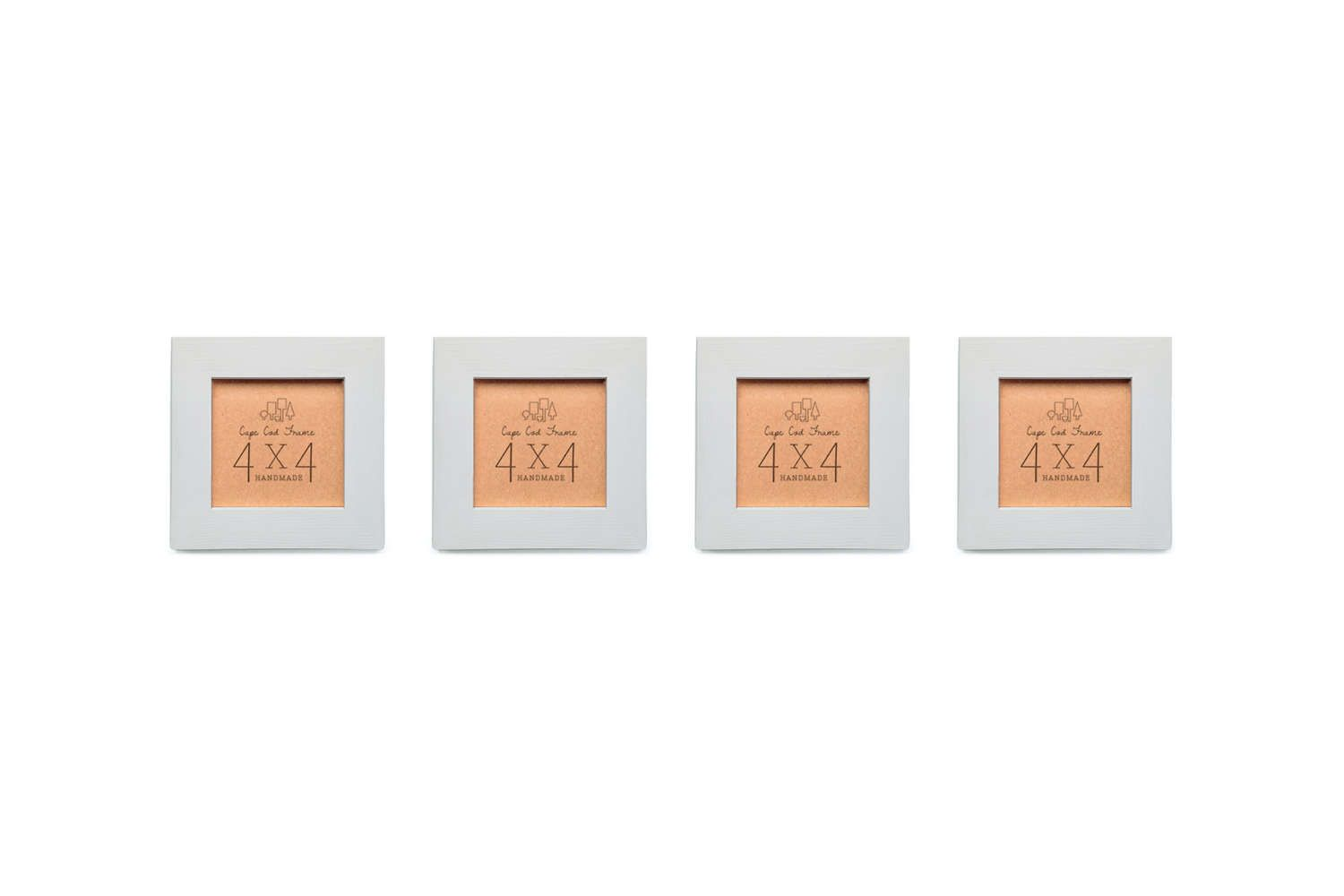 Picture Frames - Set of Four - Taupe Gray - 4x4 Frame Collage Set ...