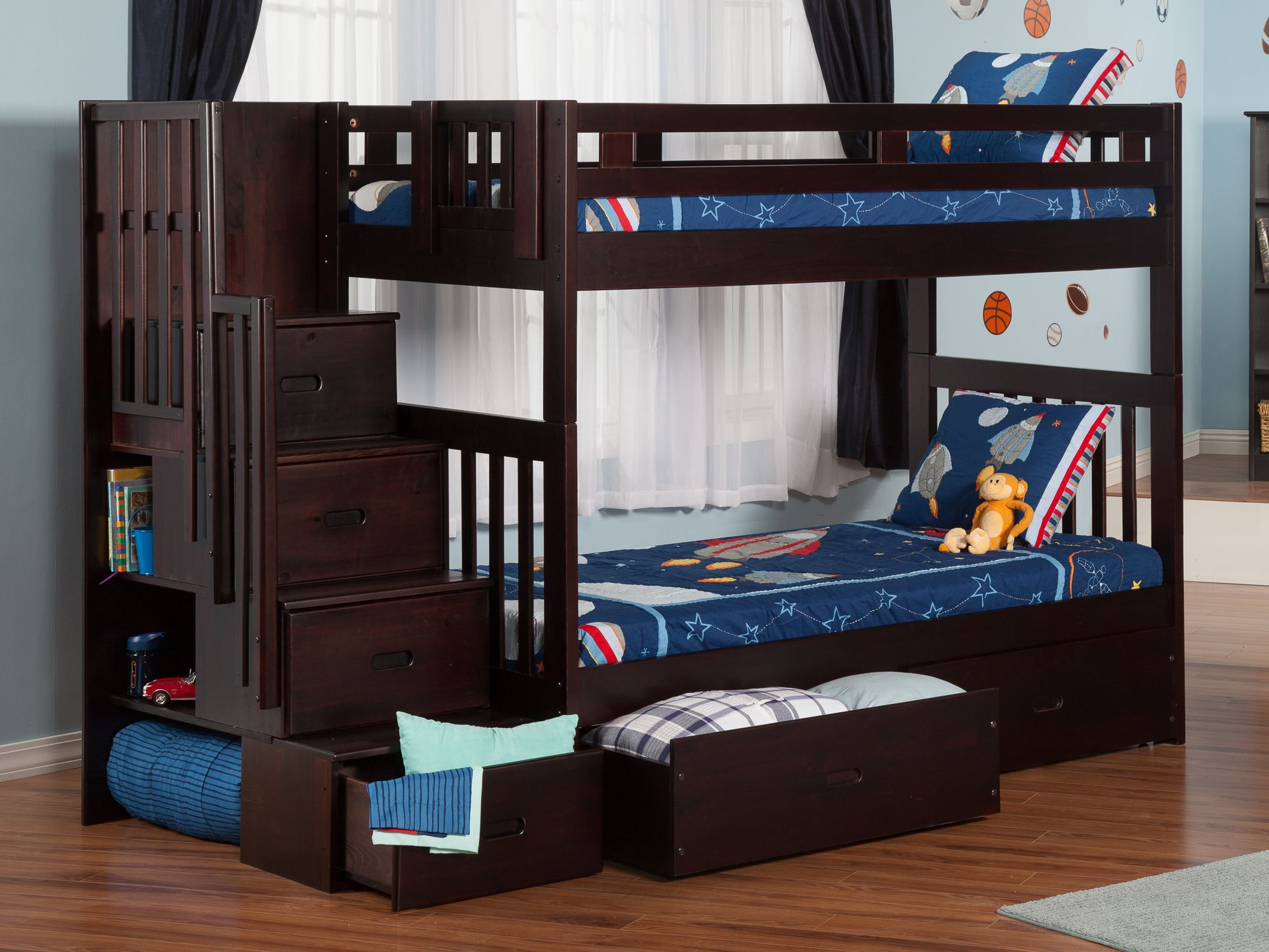 Cascade Staircase Storage Bunk Bed Bunk Beds With Storage Bunk