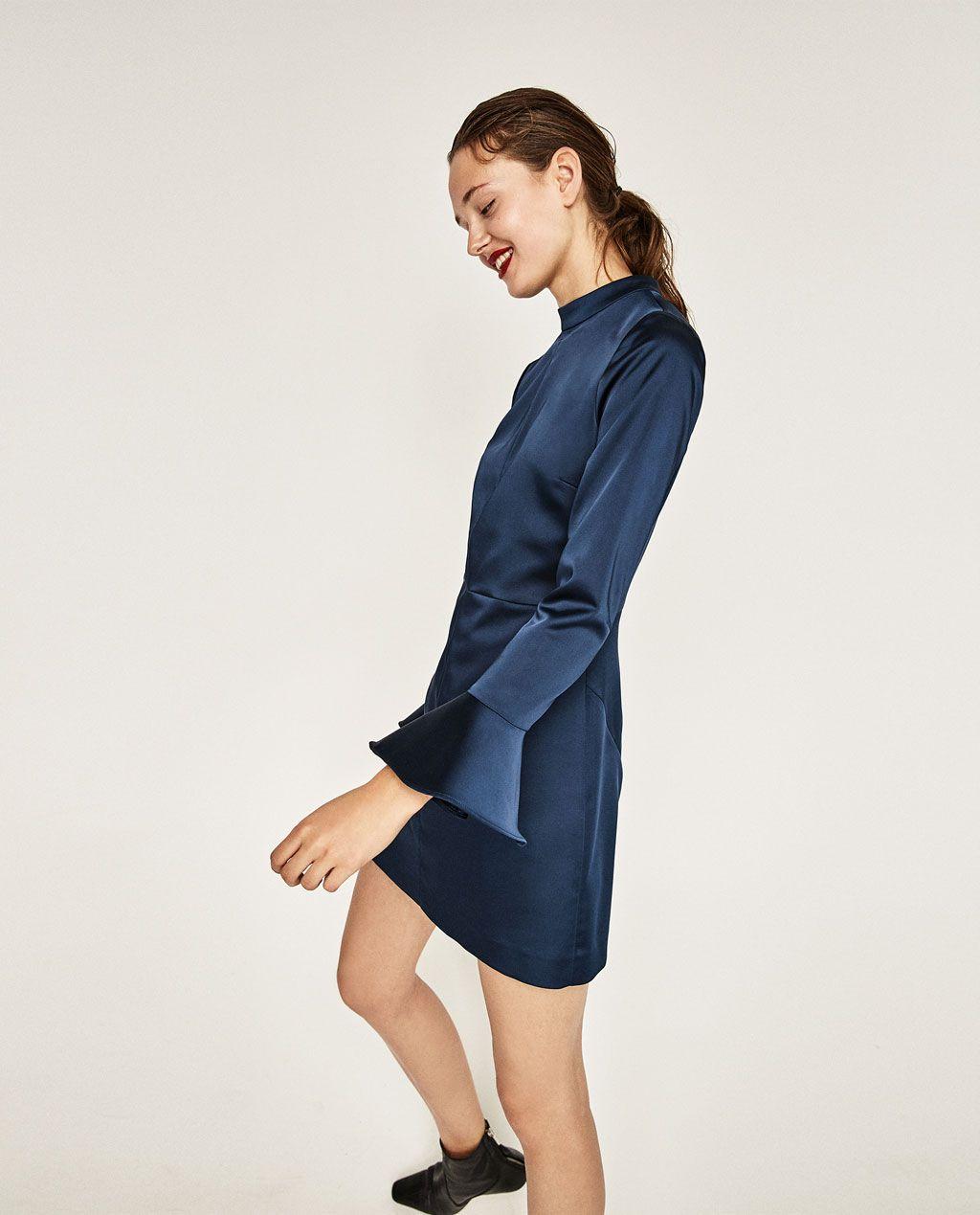 44ff4c8b5 ZARA - WOMAN - SATEEN OPEN BACK DRESS | clothes | Dresses, Open back ...