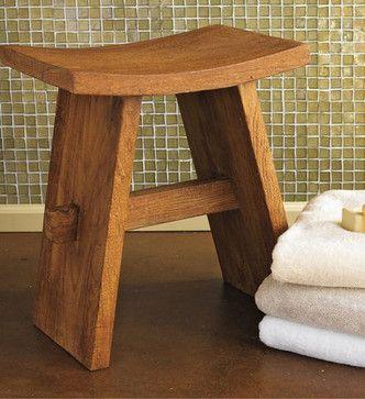 Teak Bath Stool - contemporary - bathroom storage - - by GAIAM ...